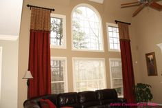 Panels with attached valance by Fabric Creations