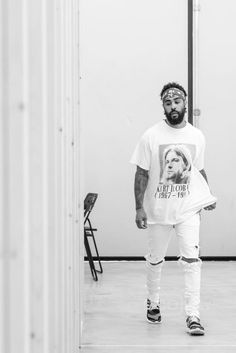 Jerry Lorenzo wearing  Ralph Lauren Vintage Double RL