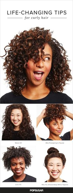 Curly Hair Hacks That Will Completely Change Your Life These expert tips will make you fall in love with your curly strands.:These expert tips will make you fall in love with your curly strands. Curly Hair Styles, Curly Hair Tips, Curly Hair Care, Short Curly Hair, Natural Hair Styles, Style Curly Hair, Kinky Hair, Make Hair Curly, Layered Curly Hair