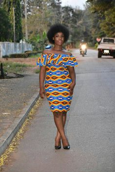 African print dress Kente print dress by DashikiMe on Etsy