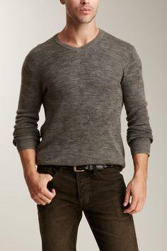 Vince Solid V-Neck Sweater
