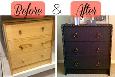 Fabric-Wrapped Ikea Rast - IKEA Hackers....try to make it look like the Bernhardt Interiors chest