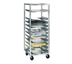 "WINHOLT Universal Pan Rack, open frame design, angle-type frame construction, universal angle slide & 13 adjustable runners, adjustable at 1-1/2""intervals, all welded aluminum construction, end loading, NSF @$755.37"