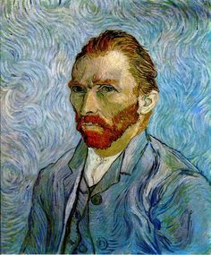 Self-Portrait - Vincent van Gogh - Painted in Sept 1889 while in the Saint-Rémy Asylum - Current location: Musée d'Orsay, Paris, France ................#GT