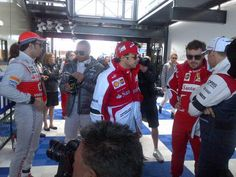 Before the drivers' parade - 2013 Australian GP