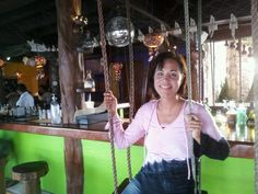 In Playa Del Carmen My Favorite Bar In The World....on the Beach & with Swings!