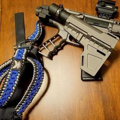 Great combo with our grip, @deadfootarms side folder and @arpowercord rifle sling!