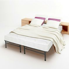 """8"""" Tight Top Spring Mattress and Bed Frame Set - Full - No Box Spring Need. by LuxTouch. $309.98. Completed Mattress Set - No Box spring needed.. 14"""" High-Storage space. Reponsive active suspension isolates motion so no disruption for your sleep partner. Super strong - 100% steel construction. Hundreds of independent operation icoil support every part of your body. Each Independent operating iCoil Spring moves independently, responding to body movement and the contour..."""