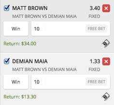 MATT BROWN VS DEMIAN MAIA