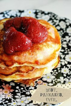 Pancakes - Click image to find more Food & Drink Pinterest pins