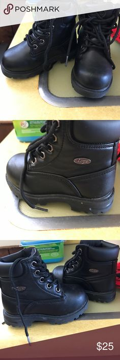 My son wore them once they didn't fit him Nice boys nice for winter only wore once Shoes Combat & Moto Boots