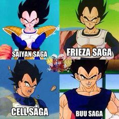 Vegeta through the sagas