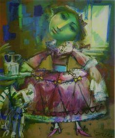 Les il·lustracions d'Álvaro Reja Paintings, Artists, Paint, Painting Art, Draw, Painting, Portrait, Resim, Drawings