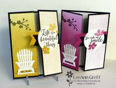Colorful Seasons Gate-Fold Card with video | Flowerbug's Inkspot | Bloglovin'