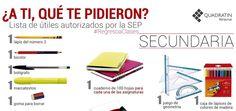 Billetes, una actividad para empezar la clase, con una infografía sobre la lista de útiles 2015-2016 de la Secretaría de Educación Pública (SEP) de México.