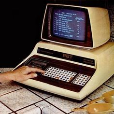 The Commodore PET (Personal Electronic Transactor) Home Computer, 1977. We had these at school in the 80's. I wrote my first 'book' on it in the 3rd grade.