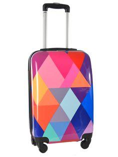 Valise Cabine Rigide Print Shinny Travel Multicolore print shinny ...