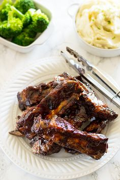 The easiest oven-baked beef rib recipe you'll ever find. All you need is two ingredients, one hour, and a whole lot of napkins. From BakingMischief.com