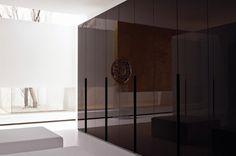 Dare to go dark with these sumptuous Chocolate Gloss Lacquer Doors #NeatsmithWardrobe #Neatsmith #Wardrobe