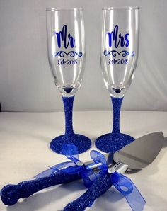 Excited to share the latest addition to my shop: Blue Royal Blue Glitter Wedding Decor Toasting Glasses and Cake Knife Server Set, Mr and Mrs, Toasting Flutes, Wedding Decor Personalized Royal Blue Wedding Decorations, Wedding Centerpieces, Wedding Colors, Royal Blue Centerpieces, Wedding Themes, Wedding Photos, Toasting Flutes, Champagne Flutes, Wedding Champagne