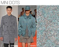 MINI DOTS  Pattern Textile Report | Women's Men's Market: S/2 2014 print and pattern trends find major influencers coming from both the Japanese and Chinese cultures infused. Other key expressions include 50's inspired branding and harlequin motifs. Digital print photo real imaging continues to be strong.