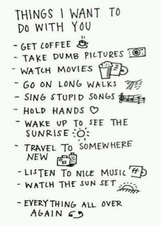 Boyfriend bucket list <3