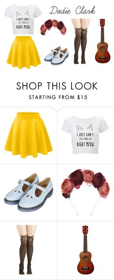 """""""Dodie Clark Inspired"""" by olivia-mepham ❤ liked on Polyvore featuring LE3NO, Topshop and Crown and Glory"""