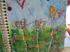 Living Canvas Workshop with Christy Tomlinson - Art Journal Pages - mixed media
