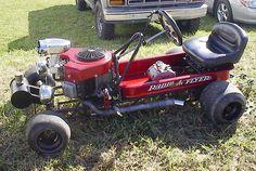 Motorized Radio Flyer hot rod wagon.