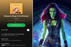 """The Spotify Playlist You Create Will Reveal Which """"Infinity War"""" Character You're Most Like You got: Gamora Image: Marvel Avengers Quiz, Shower Song, Playlist Names Ideas, Interesting Quizzes, John Oates, Quiz Me, Fun Quizzes, Playbuzz, Marvel X"""