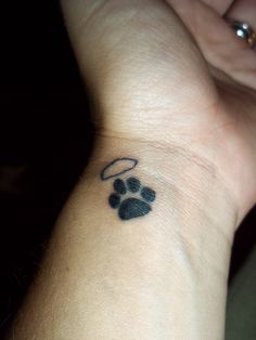 With her paw print and a princess crown above it... Hmm...I love my kitty bean