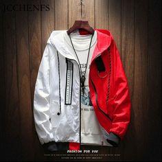 92f5b5aa JCCHENFS Bomber Jacket Men Hip Hop Large Size Zipper Patchwork Coat Jacket  Male Hooded Jacket Streetwear Brand Men's Sweatshirt Review