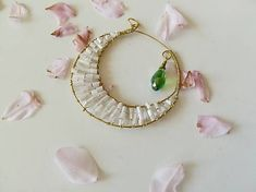 Veronahandmade / Prívesok mesiac so zelenou slzičkou Earrings, Jewelry, Instagram, Ear Rings, Stud Earrings, Jewlery, Jewerly, Ear Piercings, Schmuck