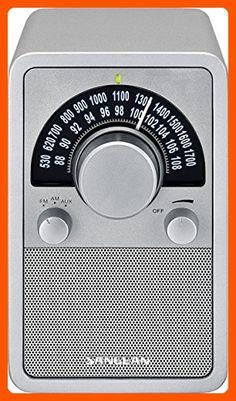 Sangean WR-15SR AM/FM Table Top Wooden Radio, Silver Piano Finish - Audio gadgets (*Amazon Partner-Link)