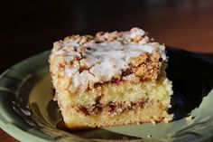 Coffee Cake made with yellow boxed cake mix