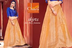 As the sun shines brighter and days get warmer give your wardrobe a REVIVAL with #CharuBoutique #partywear #skirts & #palazzos collection Be Ethnic! Be Bold! #longskirts #onlineshopping #ethnicwear #womenswear