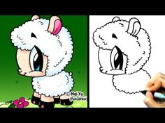 drawing cute  cartoon things   how to draw a cute cartoon chibi sheep lamb how to draw cute cartoons ...
