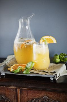 Orange Basil Mojito from Kristen Doyle at Dine and Dish, a feature at The Boys Club