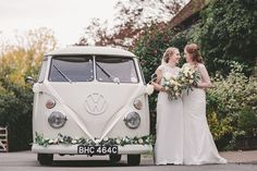 Hire one of our beautiful camper wedding cars to transport you on your special day. Wedding Vans, Wedding Car Hire, Wedding Company, Cooling Castle Barn, Campervan Hire, London Bride, Quirky Wedding, Vw Camper, Surrey