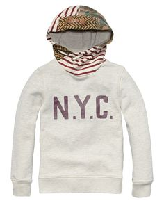 Sweater With Contrasting Twisted Hood > Kids Clothing > Boys > Sweaters at Scotch Shrunk