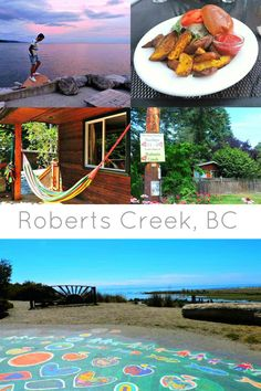 Roberts Creek is a quirky town found on the Sunshine Coast of British Colombia, Canada. Small town with big personality. Cool Places To Visit, Places To Go, Road Trip Adventure, Adventure Time, Sunshine Coast Bc, Alberta Travel, Ontario Travel, Canadian Travel, Vacation Trips