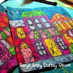 What to do with all those broken crayons (I want to try the crayon T-shirt transfer & batik)