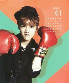 #Luhan ♡ #EXO // Calender 2014 he can try to be rough but always looks adorable this deer.