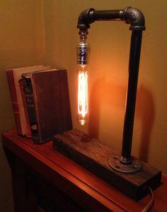 Urban iron pipe lamp
