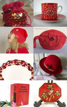Red Gift Items by Sherry - Czech Beadery by Sherry on Etsy--Pinned with TreasuryPin.com