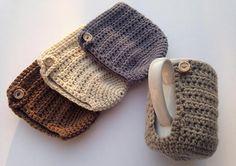 Crochet Mug Cozy Tan Coffee Mug Holder Crochet Mug Warmer