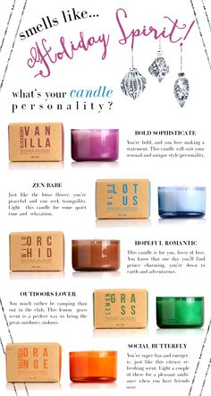Holiday Gifts! Whats your candle Personality? #holiday #gifts #candle #scent