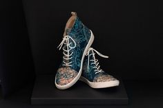 Artisan shoes made with with hand screen printed leather, true craftmanship. Printed in Bristol. Made to order. Unique Shoes, Shoes Uk, Luxury Shoes, Sustainable Fashion, Leather Shoes, Bespoke, Screen Printing, Artisan, Pairs