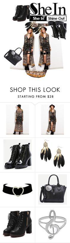 """Black Kimono Shein contest"" by anastasia-pellerin ❤ liked on Polyvore featuring contest, kimono and shein"