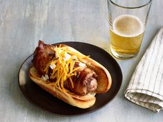 Bacon Burger Dogs recipe from Sunny Anderson via Food Network
